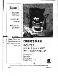 sears router manual mod 315 17431 router forums Craftsman 315 Rouer Wiring Diagram click image for larger version name router1 jpg views 884 size 190 0