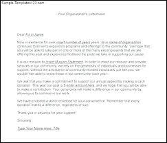 Solicitation Latter Printable Solicitation Letter For Donations Download Sample
