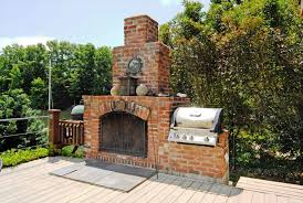 photo 1 of 9 diy outdoor brick fireplace grill outdoor fireplace with bbq grill brick how to build a woodburning