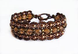 Free Beading Patterns Impressive Free Beaded Pattern For Bracelet Dark Honey Beads Magic