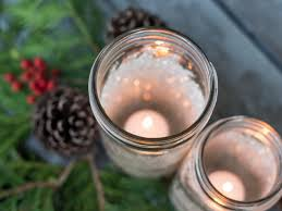 decorative glittered mason jars