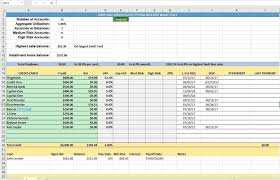 Spreadsheet Tracking Credit Card Utilization Tracking Spreadsheet Budgeting
