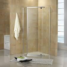 shower enclosure designed for use in the corner of a bathroom transparent glass walls create modern open appearance while sleek aluminum adds shower stalls d37 corner