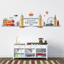 london scenery pvc wall stickers bedroom tv backdrop decorative european style romantic gentlemen mustache home travel bedroom furniture sticker style