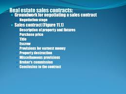 Chapter 6 Contracts And Title Closing This Chapter Introduces ...
