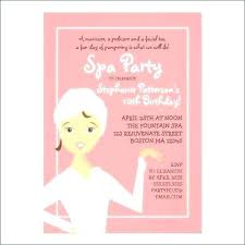 Spa Party Invitation Template Best Birthday Invitations Images On