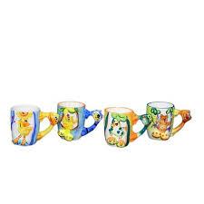Get Quotations  Threestar Assorted Animal Handle Coffee Mugs Tea Cups Set Of 4