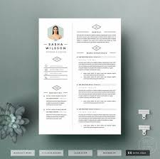Modern Resume Template Oddbits Studio Free Download 4page Resume Template Cv Template Pack Cover By Oddbitsstudio