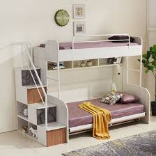 Fold away bunk bed Lollipop 2018 Eden Smart Living Dilly Double Decker Foldable Bed With Desk Rt107d1 Eden Smart Living Dilly Double Decker Bunk Bed With Desk Rt107d Eden Smart Living