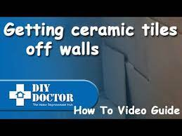 removing ceramic tiles from masonry or
