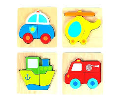toddler wooden puzzles wood puzzle vehicle mini chunky bundle pack set of 4 for toddlers preschool toddler wooden puzzles