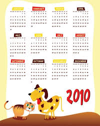 2010 Calendar January Lovely 2010 Calendar Vector Free Vector In Encapsulated Postscript