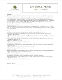 Housekeeping Resume Objective Noxdefense Com
