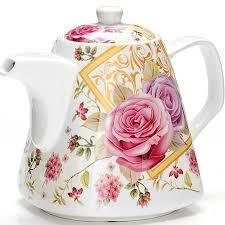 <b>Чайник заварочный 1.1</b>л <b>Loraine</b> Цветы LR-26550 - Посуда и ...