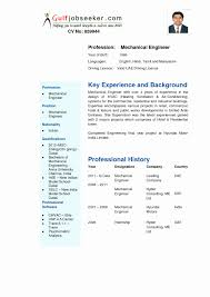 Be Resume Format For Engineers New 39 Mechanical Engineering
