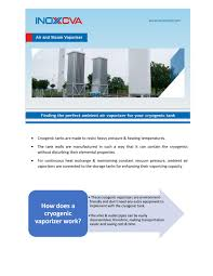 Ambient Air Vaporizer Design Finding The Perfect Ambient Air Vaporizer For Your Cryogenic