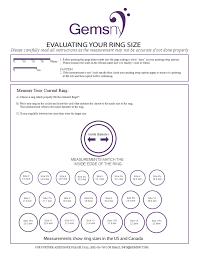 Sample Ring Size Chart Free Download