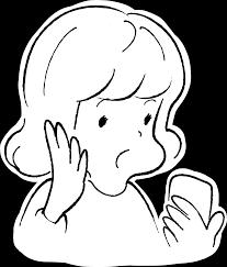 スマホでびっくりする女性のイラスト イラストフリーのガガガ