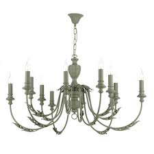 french style lighting emile large 12 light rustic french style chandelier painted in ash grey
