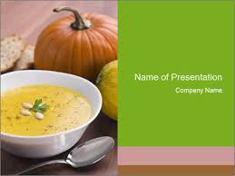 Pumpkin Soup For Lunch Powerpoint Template Backgrounds Google