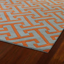 orange and grey area rug gray black
