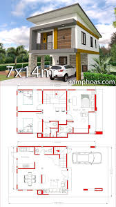 Small Home Design Plan 6x11m with 3 Bedrooms – SamPhoas Plan | Small house  design, Simple house design, Architecture house