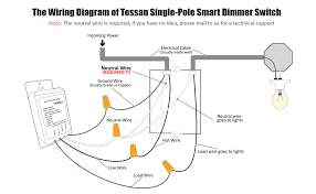 smart dimmer switch for dimmable led lights wifi light switch the wiring diagram of tessan single pole smart dimmer switch