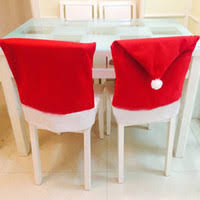 chair back covers. 20pcs fashion santa clause red hat chair back cover christmas dinnertable festival party decor supplies covers