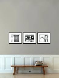 vintage bathroom wall decor. Bathroom Posters Vintage Wall Decor Set Of 3 Photographs Art R