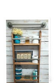 wooden shelf ladder best ideas about shelves the shelving unit wall bookshelf rustic view larger unusual