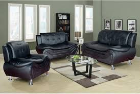 Sofa Interesting Faux Leather Living Room Set  Design - Black couches living rooms