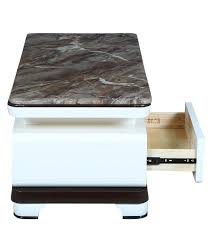 daisy marble top coffee table in