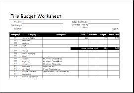 Film Template For Photos Film Budget Worksheet Template For Excel Excel Templates