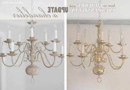 paint brass chandelier dear lillie making over a with chalk throughout makeover impressive view