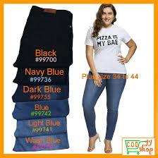 Plus <b>Size</b> Jeans <b>34-44</b> Stretchable Pants <b>for</b> Women | Shopee ...