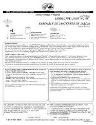 Hampton Bay Landscape Lighting Troubleshooting Hampton Bay Hd22105bk Installation Guide Manualzz Com