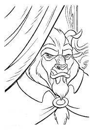 Small Picture Beauty And The Beast Coloring Pages Gaston Belle Touches Beast