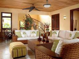 easy ways to decorate a small living room with woven rattan sofa and ceiling fan