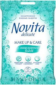 """<b>Novita</b> Delicate - <b>Влажные салфетки</b> """"Make Up"""": купить по лучшей ..."""