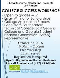 area resource center inc college success workshop