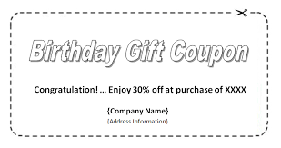microsoft word birthday coupon template birthday coupon template coupon templates