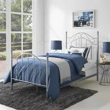 Metal Bed Bedroom Dorel Living Mainstays Twin Metal Bed Pewter Taupe