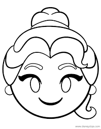 Click on the coloring page to open in a new window and print. Disney Emojis Coloring Pages Disneyclips Com