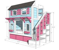 image of full size loft bed with stairs plans