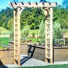 wedding arbors for cedar wood trellis arbor garden with gate used australia