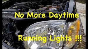 2007 Toyota Camry Daytime Running Lights 2001 2007 Toyota Sequoia Tundra Drl Daytime Running Lights Delete How To Turn Off