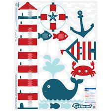 Nautical Growth Chart Nursery Nautical Theme Growth Chart X Large Wall Decals
