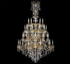 bellagio collection 40 light extra large brass crystal chandelier