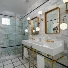 art deco bathroom. Gray Tile Art Deco Bathroom H