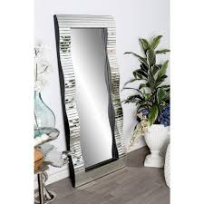 Wall mirrors Design Litton Lane Fulllength Rectangular Silver Doorwall Mirror The Home Depot Litton Lane Fulllength Rectangular Silver Doorwall Mirror59329
